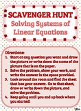 Scavenger Hunt_Solving Systems of Equations