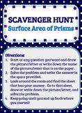 Scavenger Hunt_Surface Area of Prisms