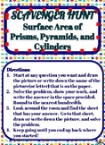 Scavenger Hunt_Surface Area of Prisms, Pyramids, and Cylinders