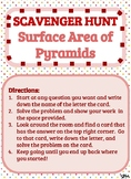 Scavenger Hunt_Surface Area of Pyramids