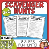 Scavenger Hunts: 18 for Dictionary, Library, Math, Nature, Internet +