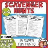 Scavenger Hunts for Math, reading, homework, and more Print or TpT Easel Digital