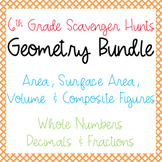 Scavenger Hunts: Geometry Bundle: Area, Surface Area, Volu