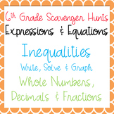 Scavenger Hunts: Inequalities: Write, Solve & Graph