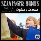 BINGO and Scavenger Hunts Translated - End of Year Fun