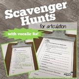 Scavenger Hunts for Articulation