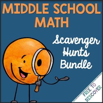 Scavenger Hunts for Middle School Math Bundle
