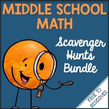 Scavenger Hunts for Middle School Math Bundle