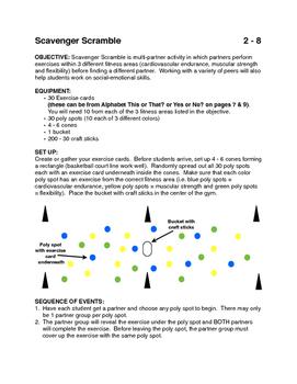 Scavenger Scramble activity for PE