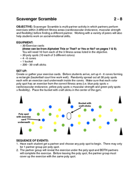 Scavenger Scramble activity for PE