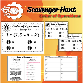 Scavenger hunt: Order of Operation (PMDAS: No Exponents)
