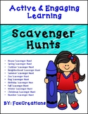 Scavenger hunts Year Round~ Problem solving skills
