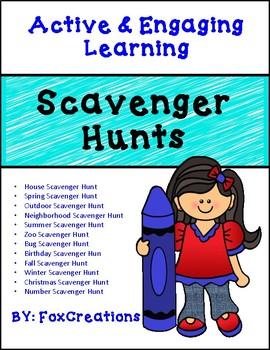 Scavenger hunts Year Round~ Problem solving skills