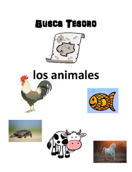 Scaventer Hunt Game: los animales (animals)