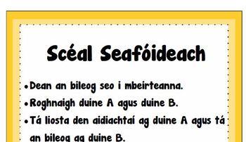 Scéal Seafóideach- Ar Scoil agus Aidiachtaí