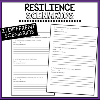 Resilience Scenarios to Help Students to Handle Tough Situations.
