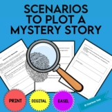 Scenarios to Plot a Mystery Story Creative Writing Activity | Distance Learning