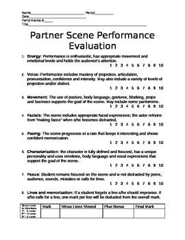 Scene Performance Rubric