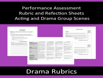 Scene Performance Rubrics and Reflections - Assessments for Drama & Acting