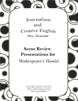 Hamlet: Act Review Presentation Assignment