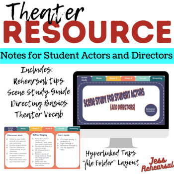 Scene Study: Notes for Student Actors/Directors