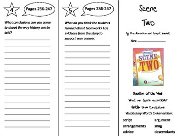 Scene Two Trifold - Reading Street 4th Grade Unit 2 Week 3