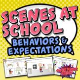 Scenes at School (Behaviors in the Playground, Bathroom an