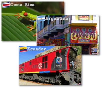 Scenes from Latin America Printable Posters - Hispanic Heritage Month