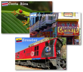 Scenes from Latin America Printable Posters - Hispanic Heritage Month