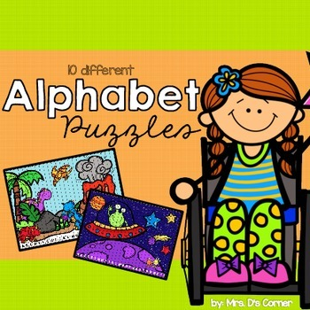 Scenic Alphabet Sequencing Puzzles { 10 Total }