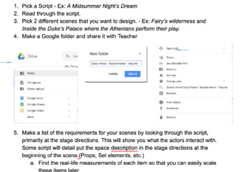 Scenic Design Project W Google App Instructions By Brandon Marks