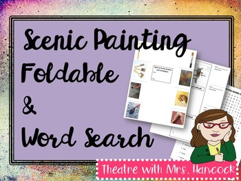 Scenic Painting Foldable and Word Search