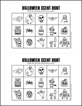 "Scent Hunt Game: Halloween Version - Girl Scout Brownies - ""Senses"" Pk (Step 3)"
