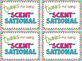"""Scent"" Sational Appreciation Tags"