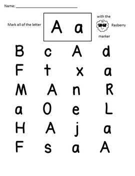Scented Marker Letter Recognition
