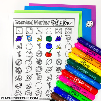 Scented Marker Roll and Race Open Ended Dice Game