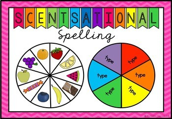 Scentsational Spelling Words - Scented Markers Spin and Write {Editable}