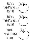 Scentsational Teacher Appreciation Tags- FREE