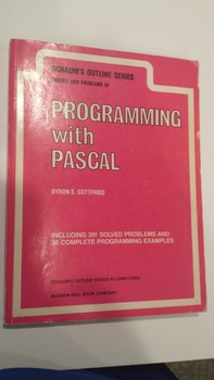Schaum's Outlines - Programming with Pascal (1985, Paperback) - GOOD! (EXL)