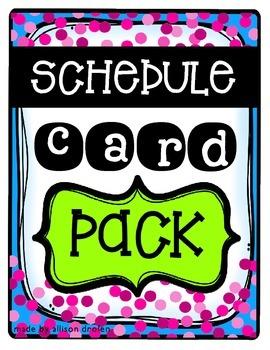 Schdule Card Pack