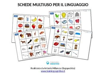 Schede per multiuso per il linguaggio (PowerPoint modificabile)