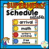 Superhero Schedule Editable