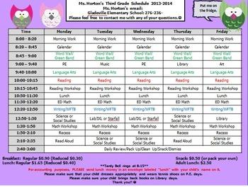 Schedule 2013-2014