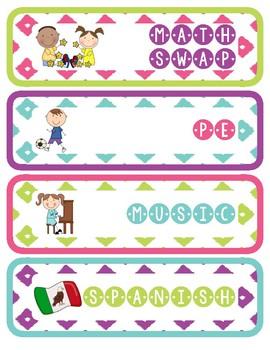 Schedule/Agenda Cards