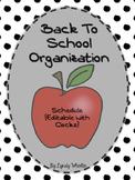 Schedule - Back To School