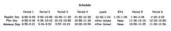 Schedule Banner - Plain