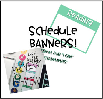 Schedule Banners