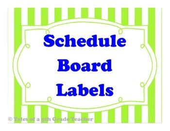 Schedule Board Labels