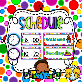 Schedule {Bright Polka Dots Background – 90 Cards}