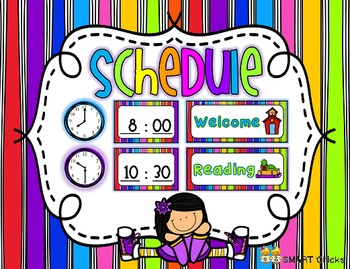 Schedule {Bright Stripes Background - 90 Cards}